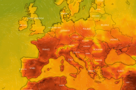 Temperatures are set to soar across the continent next week