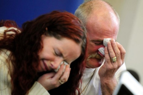 16 May: Mairead and Michael Philpott speak to the media.