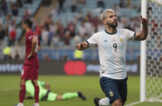 Aguero on the mark as Argentina leapfrog Qatar and reach Copa America quarters