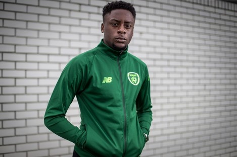 Jonathan Afolabi pictured at an Ireland U19 Media Event.