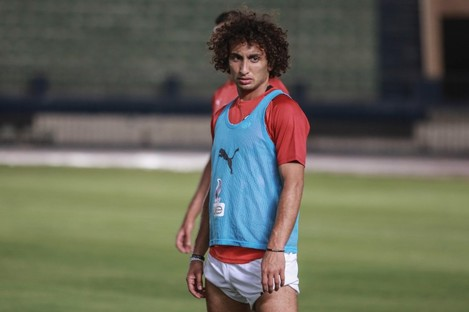 Warda training with Egypt prior to his suspension.