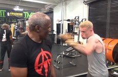James McClean trains with Floyd Mayweather Sr in Las Vegas gym