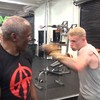 James McClean trains with Floyd Mayweather Sr in Las Vegas gym