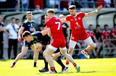 McCurry goal seals impressive Tyrone win over 14-man Kildare