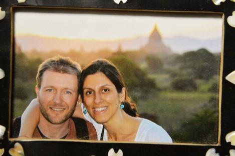 Nazanin Zaghari-Ratcliffe with her husband Richard Ratcliffe