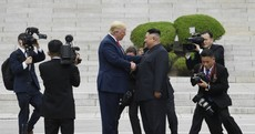 'It's a great day for the world': Trump invites Kim to US after symbolic 'handshake of peace'