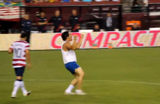 VIDEO: Pitch invader gets laid out by Maryland's finest