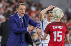 Phil Neville admires US star Rapinoe despite breaking his Apple Watch