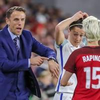 Phil Neville admires US star Rapinoe despite breaking his Apple Watch