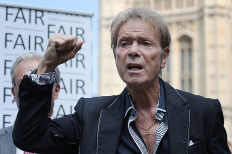 Cliff Richard speaking at the launch of the campaign in London.
