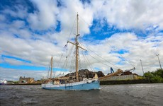 Ireland's only surviving wooden ocean ship has set sail for Greenland