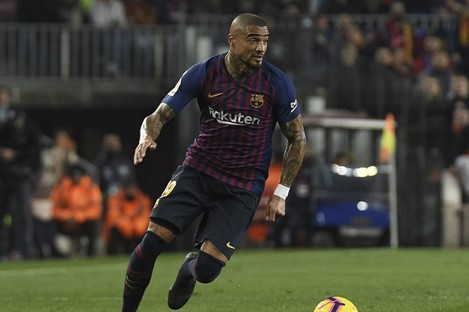 Kevin-Prince Boateng in action for Barcelona earlier this year.