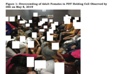 Images show 'dangerous overcrowding' taking place at migrant detention centres in Texas