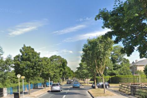 R106, Swords Road, outside the entrance to Castle Heath