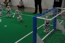 VIDEO: A good omen? The Irish team's goals in 'Euro 2012 for Robots'