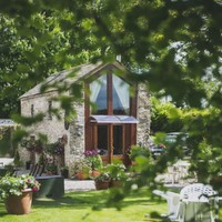Sleep Here: Lean in to your romantic side at this stylishly converted stone barn in Meath