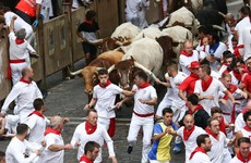 Two Americans and a Spaniard gored during Pamplona bull-running
