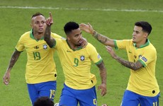 10-man Brazil triumph in Copa America final to end 12-year trophy wait