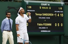 Fognini could be fined over 'bomb' outburst during Wimbledon defeat