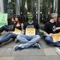 Protesters lock themselves to department doors in protest over Climate Emergency Bill blocking