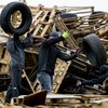 Loyalist bonfire organisers rebuild 11 July sites after council crackdown on hazardous materials