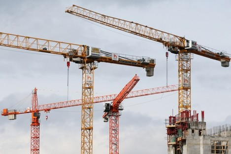 File photo of cranes in Dublin.