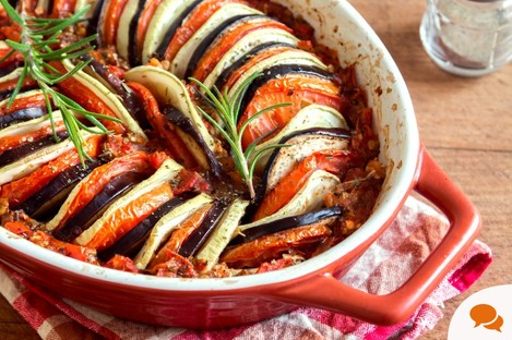 Ratatouille - a French stewed vegetable dish.