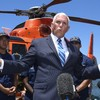 Pence claims migrants 'well cared for' during visit to centre as protestors decry 'concentration camps'