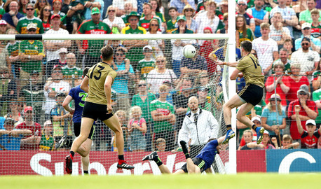 Paul Geaney scoring a goal for Kerry.