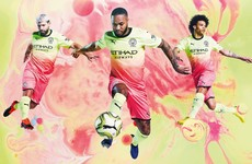 Man City release bright yellow and pink kit ahead of the new season
