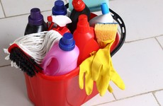 What's the handiest way to store bulky cleaning products?