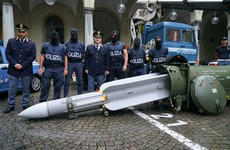 Italian police seize 800kg missile and Nazi memorabilia during probe into far-right groups