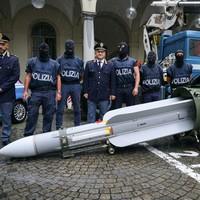 Italian police seize 800kg missile and Nazi memorabilia during probe into far-right groups