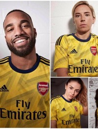 Arsenal release new away kit inspired by iconic 'bruised banana' shirt from the early 90s