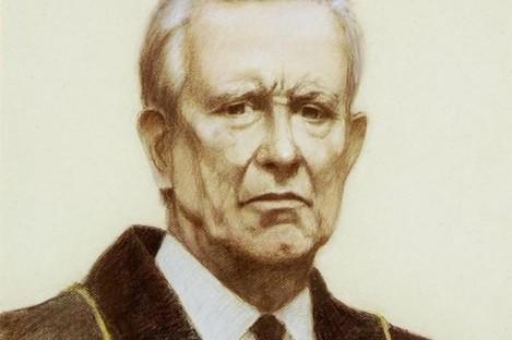Portrait of Pádraig Faulkner, the former ceann comhairle of the Dáil.