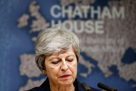 Outgoing British Prime Minister Theresa May