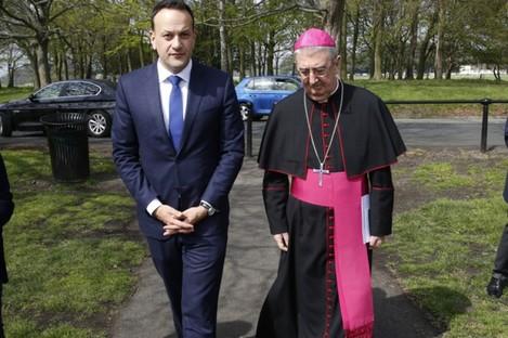 Leo Varadkar and Archbishop Diarmuid Martin.