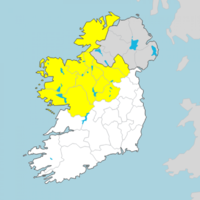 Status Yellow rain warning issued for ten counties for Friday