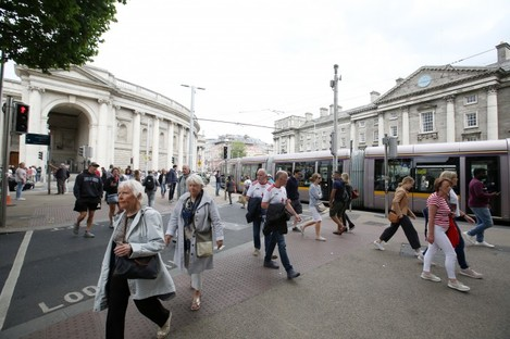 College Green in Dublin city centre