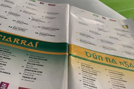 A general view of yesterday's programme in Croke Park.