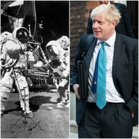 Boris Johnson says that if we can go to the moon, we can solve the Irish border problem