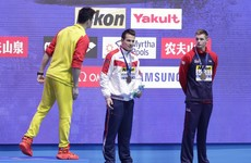 Podium drama as rival refuses to stand alongside controversial Olympic champion