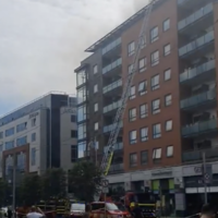 Fire breaks out on the seventh floor of apartment complex in Dublin city centre