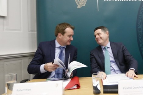 Top civil servant Robert Watt and Finance and Public Expenditure Paschal Donohoe.