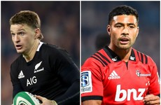 Barrett moves to 15 as All Blacks bring in Crusaders star Mo'unga at 10