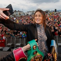 Taylor considering climb in weight for more belts as Serrano showdown drifts into next year