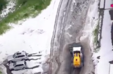 Tour de France stage dramatically abandoned due to sudden hailstorm