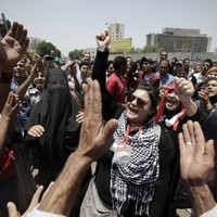 Protests in Tahrir Square continue after verdicts in Mubarak trial