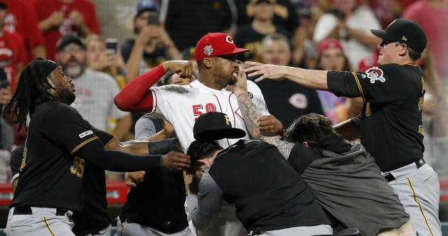 Pitcher goes in swinging at entire Pirates bench in astounding baseball brawl