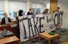 RTB threatened to take legal action if Take Back the City protested in its office again